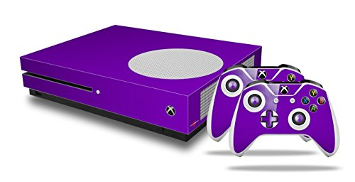 Solids Collection Purple - Decal Style Skin Set fits XBOX One S Console and 2 Controllers (XBOX SYSTEM SOLD SEPARATELY) (Decals Collection Vinyl)