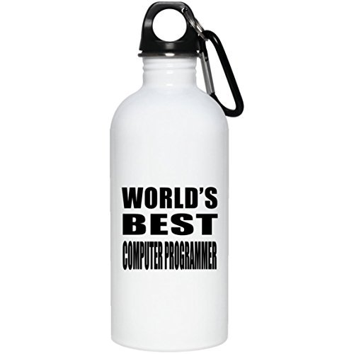(Lionkin8 World's Best Computer Programmer - Stainless Steel Water Bottle)