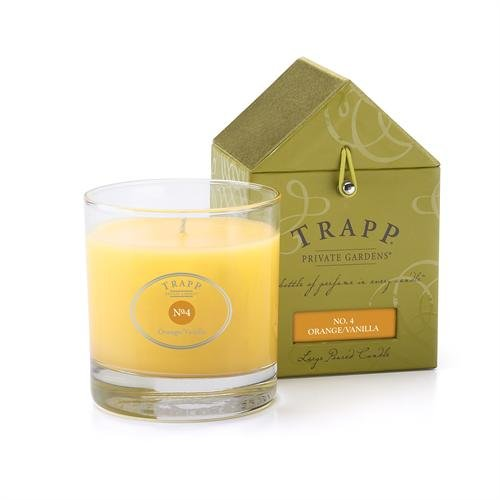 No. 04 Orange Vanilla Large Poured 7oz Candle Set of 4 by Trapp