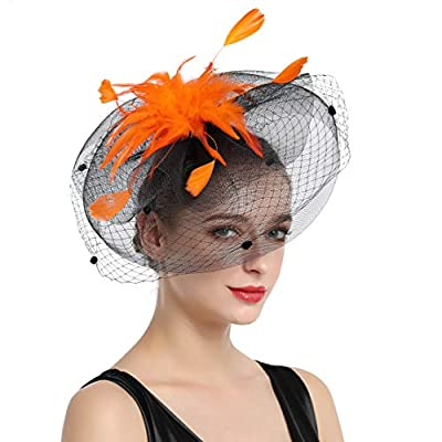 Women Fascinators Hat Tea Party Kentucky Derby Headband Hair Clip Wedding Flower Mesh Feathers Hairband