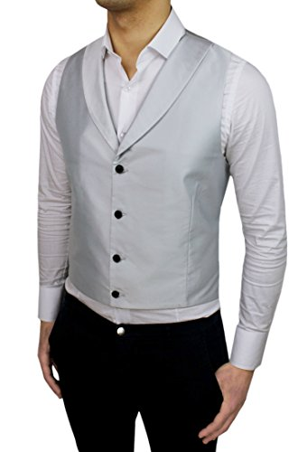 Alessandro Gilles - Gilet - Homme gris gris clair (ral 7035)