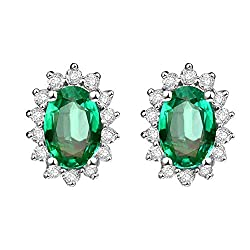 Diamond Emerald Earrings for Women