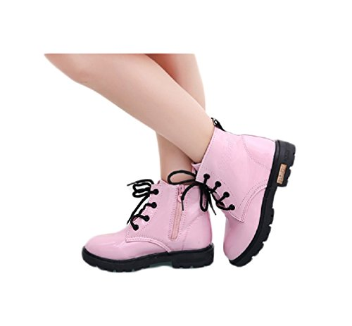 Price comparison product image Bakerdani Boy's Girl's PU Waterproof Lace-Up Martin Boots