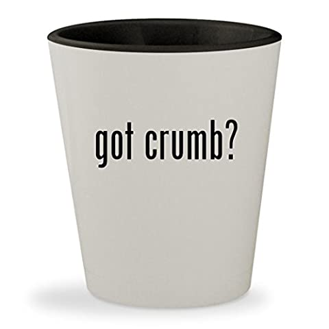 got crumb? - White Outer & Black Inner Ceramic 1.5oz Shot Glass