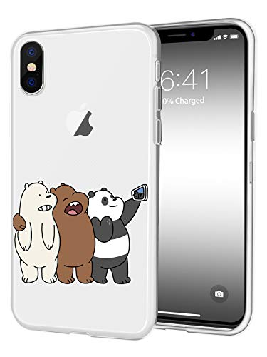 JOYLAND Catoon Phone Case Cover Cute Bears Desgin Cell Phone Case Protective Shell Transparent TPU Case Compatible for iPhone 7/iPhone 8