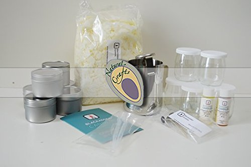 Beginners Candle Making Kit 100% Soy (Large) Floral and Fruity Fragrances Blackadder Candles