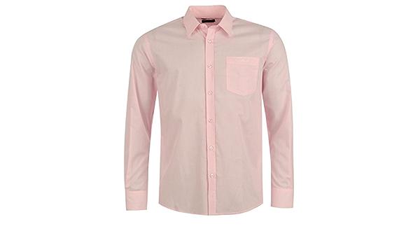 Pierre Cardin - Camisa de manga larga para hombre rosa XL ...
