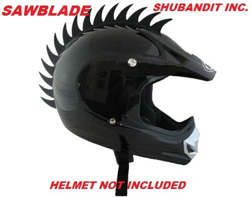 Amazon.com: Motorcycle Dirtbike Helmets Scooter Skate Boarding Snowmobile Atv Saw Blade Soft Rubber Bmx Helmet Mohawk Plus One Free Shark Fin Warhawk ...