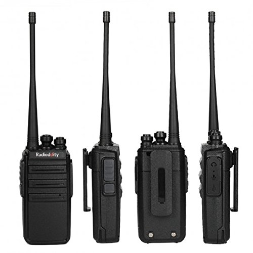 6 Pack Radioddity GA-2S Long Range Walkie Talkies UHF Two Way Radio for Hunting//Fishing//Camping//Security with Micro USB Charging Air Acoustic Earpiece with Mic 1 Programming Cable