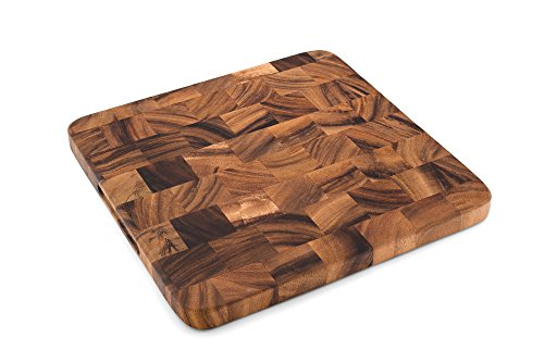 (Ironwood 28736 Oslo End Grain Square Utility Board, One Size, Acacia)