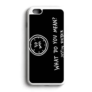 What Do You Mean Am Fit For iPhone 6 Rubber Back Protector Framed White