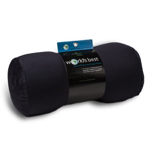 World's Best 3180 Navy Bolster Pillow, 14 x 6 x 6 inches