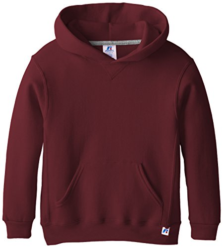 Russell Athletic Big Boys' Fleece Pullover Hood, Maroon, Large