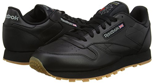 Reebok intense Homme Classic Black Leather gum Baskets Noir rXSrRUn