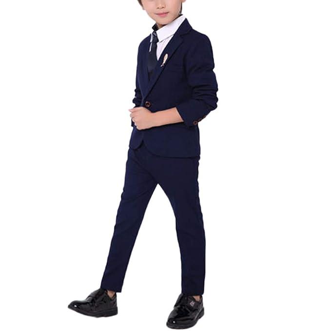 Traje para Niño Boda Ceremonia Conjunto Chaqueta Pantalones ...