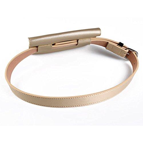 para cinturón Cinturón Cintura riñonera con Mujer con Mujer Plata Moda a GEZICHTA dorado de elástico para Mini de Bolso la Piel Ajustable y ZtqdCCWFwE