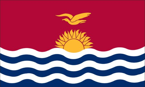 Valley Forge Flag 3-Foot by 5-Foot Nylon Kiribati Flag