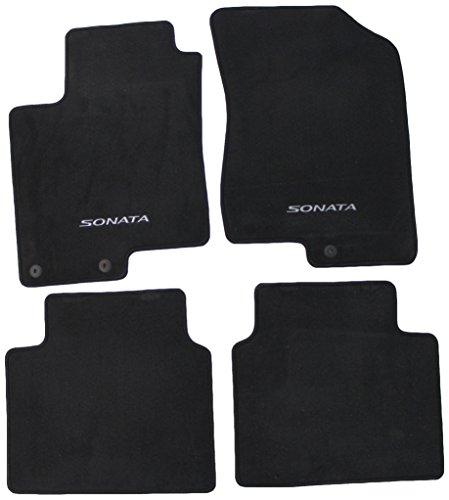 Genuine Hyundai Accessories 08140-3K210HZ Black Front Carpeted Floor Mat for Hyundai Sonata