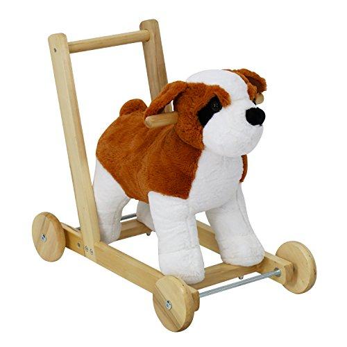 Pony Pull Toy (Peach Tree Kids Girls Boys Pony Ride on Horse Dog Theme Style Rocking Toy Child Walking Trolley Sound w/Wheels)