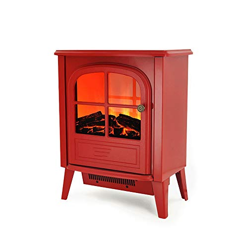 Cheap Electric Fireplace Fireplace Stove Heater Electric Stove Fireplaces Log Burner Flame Effect Electric Fireplace Stove Heater 1900W Suitable for Living Room Bedroom Study (Color : Red) Black Friday & Cyber Monday 2019