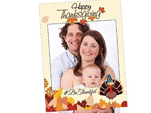 Photo backdrop Fall decor photo props Holiday photo booth Leaves Give thanks Thanksgiving photo booth frame prop- sizes 36x24 Handmade party Supplies Turkey 48x36; Photobooth Selfie Frame