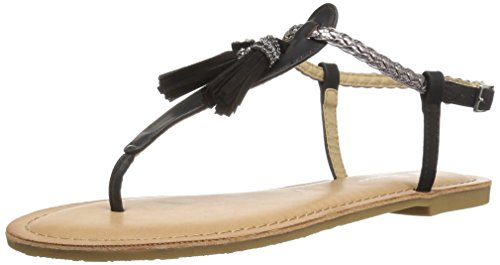 pewter Laundry Negro Talla Cl Mujeres Burnished Piso Sandalias By black De RB4qzHw