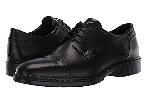 ECCO Men's Lisbon Cap Toe Tie Oxford, Black, 46 EU/12-12.5 M US