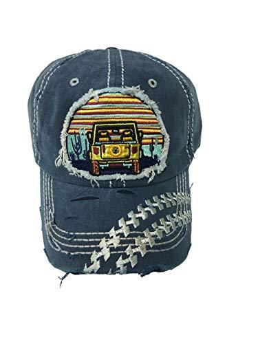 Jeep Girl Vintage Style Hat Denim Blue Baseball Cap. ()