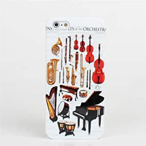 Musical Instruments Pattern Hard Back Case Cover For iPhone 5 5S