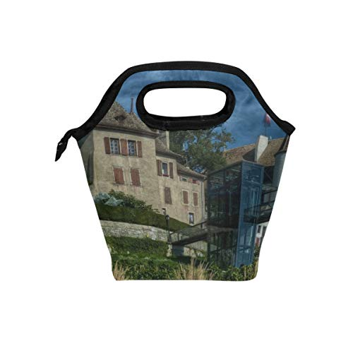 Your Home Geneva Switzerland Palace Flag Hill Hdr Lunch Tote Bag Insulated Cooler Thermal Reusable Bag Lunch Box Portable Handbag