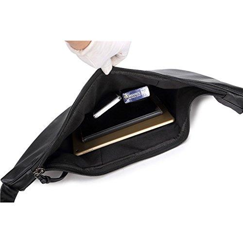 Bandolera de Negro Piel Bolsas Escolares Vintage Bolsa Bag Messenger Ocio Bolsos Cuero para Hombre Bolso Colegio Bolsos Foino 85Tzq18