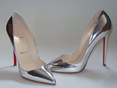 detailing 1d3c7 fb10f Amazon.com | Christian Louboutin Pigalle Shoes Silver ...