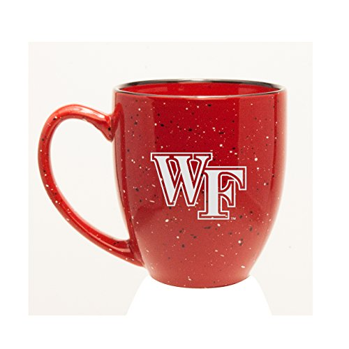 CC Glass Wake Forest Demon Deacons Deep Etched 15 oz. Red Bistro Mug