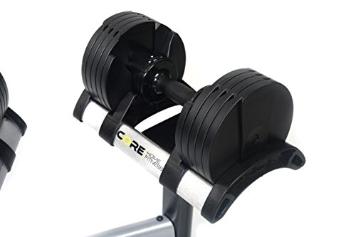 Core Home Fitness Adjustable Dumbbell Set & Stand By Space Saver - Dumbbells For Your Home - Weights - by Core Home Fitness (Image #3)