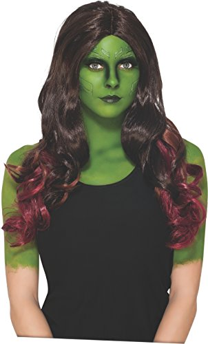 Rubie's Costume Women's Marvel Universe Guardians Of The Galaxy Gamora Wig, Multicolor, One Size (Spiderman Cosplay For Sale)