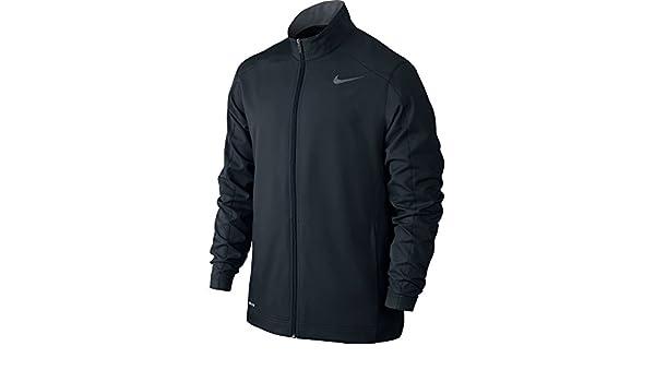 1dac042d2247 Amazon.com  Nike Men s Team Woven Jacket Black Cool Grey Size Small  Sports    Outdoors