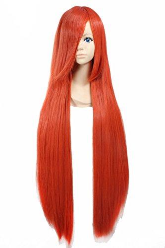 Horo Cosplay Costume (Cosplay Wig Orange Wig Extra Long Orange Straight Wig Shana Wig Horo Wigs)