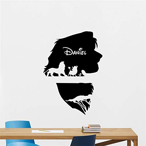 Lion King Decal Personalized Name Lion King Wall Decal Vinyl Sticker Custom Poster Nursery Vinyl Decal