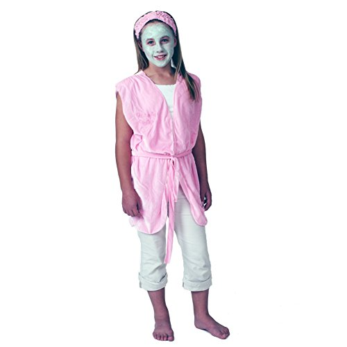 Girls Day Spa Robe & Headbands (8 (Spa Girl Costume)