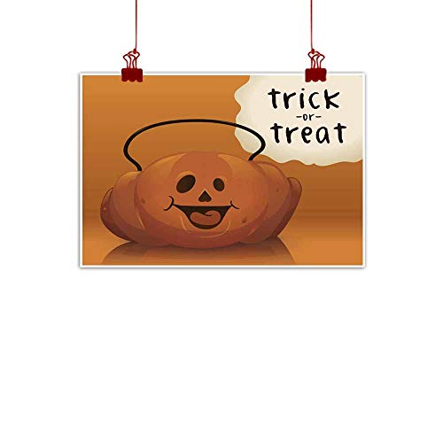 duommhome Wall Art Decor Poster Painting Halloween Pumpkin Candy Basket Vector Illustration Wall Art Decor Poster Painting 32