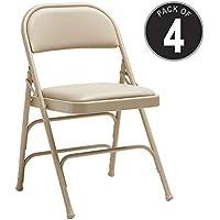 Samsonite Furniture 49752-2899 2800 Series Folding Chairs, Neutral