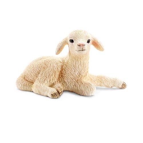 Schleich Lying Lamb Toy Figure