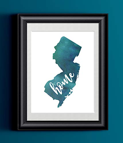 Piece Frame Jersey - New Jersey Home Watercolor Print | 8.5 x 11 | Wall Decor