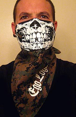 USMC woodland digital Camo Half Face Skull Bandana marpat bdu paintball marpat