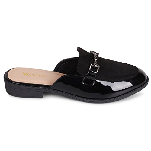 Wanted Cavallo Slip On Loafers Black Patent Multi TV3QBLd