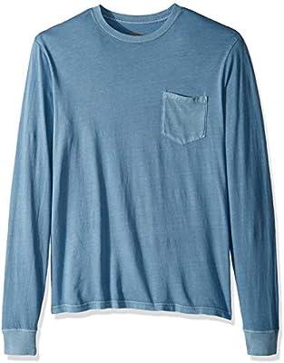 RVCA Mens PTC Pigment Long Sleeve Crew Neck Pocket T-Shirt
