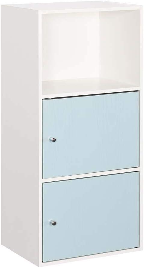 Convenience Concepts Xtra Storage 2 Door Cabinet, White/Sea Foam