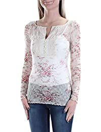 07068c5f343 Denim   Supply Ralph Lauren Floral-Print Crochet-Bib Henley Shirt