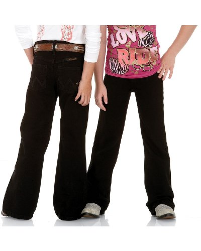 Price comparison product image Wrangler Girl's Black Magic Q-baby Ultimate Riding Jean, Size 10