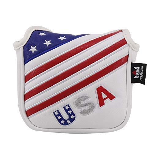(Craftsman Golf Red/White/Blue USA Flag Mallet Putter Cover (Square Mallet Cover))